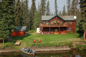 Self-built home on the Chena River