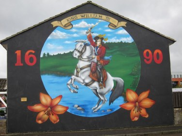 King Billy actually had Papal support in most of his endeavours - but the Lodge never let that get in the way of a good story/mural