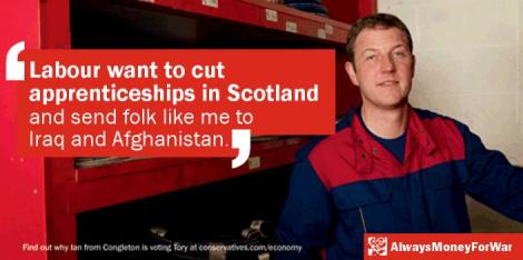 labour money for war cut apprenticeships