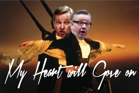 I've never forgiven michael gove for the bit where he lets michael gove drown