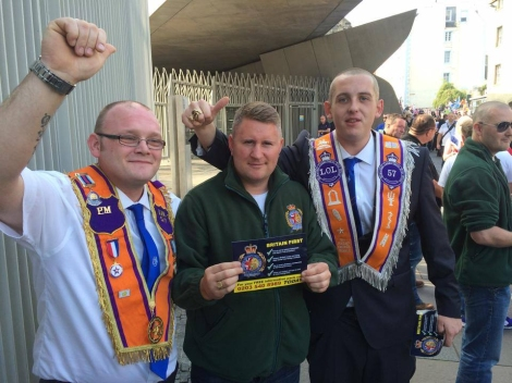 Britain First's Paul Golding makes some new BFFs
